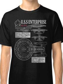 PICARDS ENTERPRISE NCC1701D  Classic T-Shirt