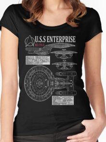 PICARDS ENTERPRISE NCC1701D  Women's Fitted Scoop T-Shirt