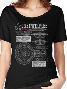 PICARDS ENTERPRISE NCC1701D  Women's Relaxed Fit T-Shirt