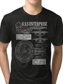 PICARDS ENTERPRISE NCC1701D  Tri-blend T-Shirt