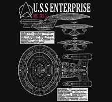 PICARDS ENTERPRISE NCC1701D  Unisex T-Shirt
