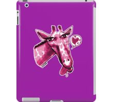 cartoon style lovely giraffe purple iPad Case/Skin