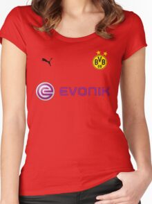 BORUSSIA DORTMUND FC Women's Fitted Scoop T-Shirt