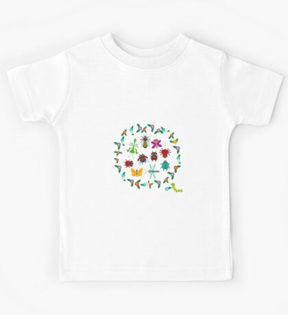 Funny insects circle Kids Tee