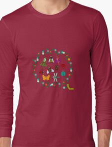 Funny insects circle Long Sleeve T-Shirt