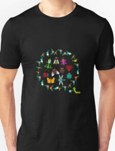 Funny insects circle Unisex T-Shirt