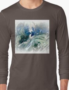 Blues and Greens Abstract..... Long Sleeve T-Shirt