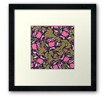 Wilde rose seamless pattern. Framed Print
