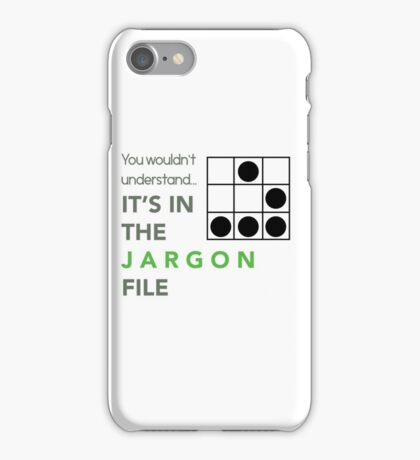 It's In The Jargon File iPhone Case/Skin