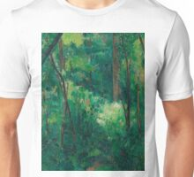 1880 - Paul Cezanne - Interior of a forest Unisex T-Shirt