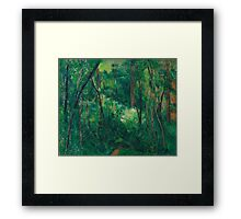 1880 - Paul Cezanne - Interior of a forest Framed Print
