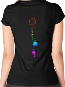 Commander Lexa's Tattoo (Rainbow) Women's Fitted Scoop T-Shirt