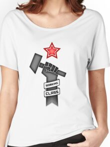 Raised Fist of Protest - Working Class Women's Relaxed Fit T-Shirt