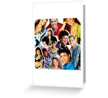 Saved by the bell collage Greeting Card