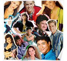 Saved by the bell collage Poster