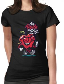 Apple Days is Funny Womens Fitted T-Shirt