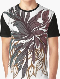 Abstract floral composition with bird. Graphic T-Shirt