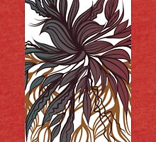 Abstract floral composition with bird. Tri-blend T-Shirt