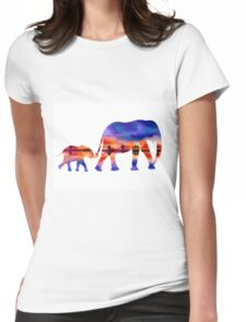 Elephant  Sunset  Silhouette  Womens Fitted T-Shirt