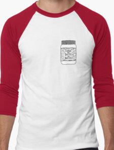 Peanut Butter Nutter Men's Baseball ¾ T-Shirt