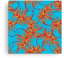 Abstract floral seamless pattern Canvas Print