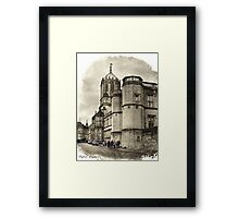 Street in Oxford, England Framed Print