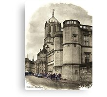 Street in Oxford, England Canvas Print