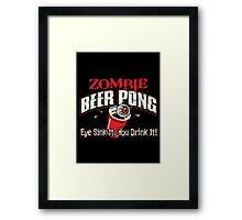 zombie pong Framed Print