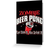 zombie pong Greeting Card