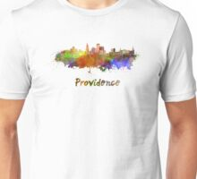 Providence skyline in watercolor Unisex T-Shirt