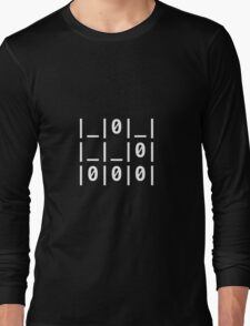 "The Glider Text: ""A Universal Hacker Emblem"" - Jargon File Long Sleeve T-Shirt"