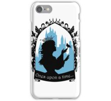 Beautiful  princess silhouette with singing bird iPhone Case/Skin