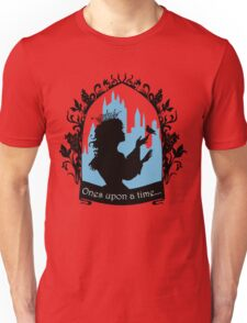 Beautiful  princess silhouette with singing bird Unisex T-Shirt