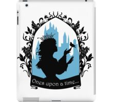 Beautiful  princess silhouette with singing bird iPad Case/Skin