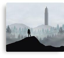 The 100 - Flat Landscape Canvas Print