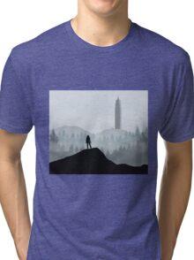The 100 - Flat Landscape Tri-blend T-Shirt