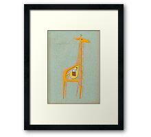 Ange the pregnant giraffe Framed Print