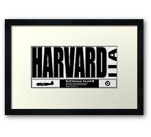 Harvard trainer Framed Print