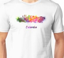 Colombo skyline in watercolor Unisex T-Shirt