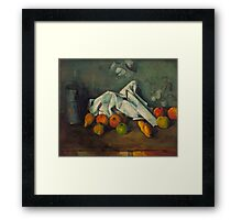 1880 - Paul Cezanne - Milk Can and Apples Framed Print