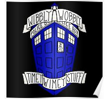 Whibly Whobly Tardis Poster