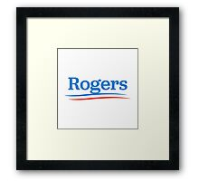 rogers presidential campaign  Framed Print
