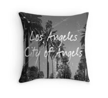 Los Angeles City of Angels Print Text Throw Pillow
