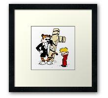 Calvin & Hobbes - StackedImages Framed Print