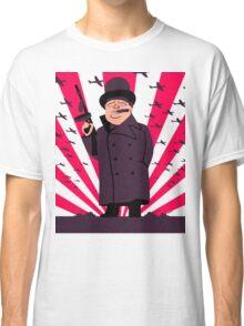 Churchill with a Tommy Gun Classic T-Shirt