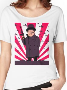 Churchill with a Tommy Gun Women's Relaxed Fit T-Shirt
