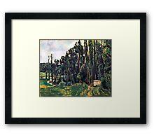 1880 - Paul Cezanne - Poplars Framed Print