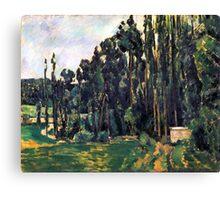 1880 - Paul Cezanne - Poplars Canvas Print