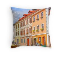 Firytale town in Slovenia Throw Pillow