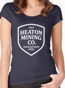 Heaton Mining Co. (alt. version white) - Inspired by Bruce Springsteen's 'Youngstown' Women's Fitted Scoop T-Shirt